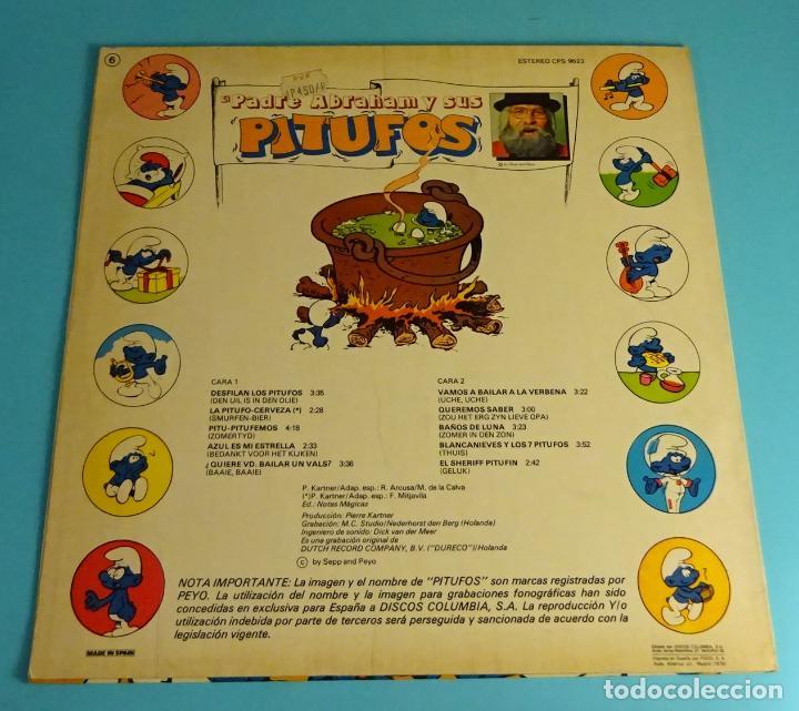 Discos de vinilo: PADRE ABRAHAM Y SUS PITUFOS (LP) 1979, INCLUYE ENCARTE CON LETRAS - Foto 2 - 220075290
