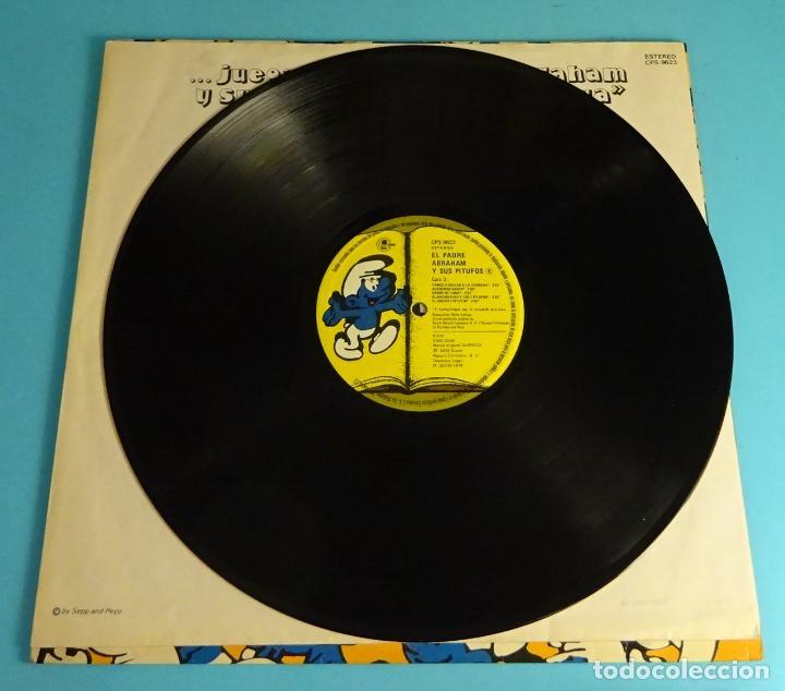 Discos de vinilo: PADRE ABRAHAM Y SUS PITUFOS (LP) 1979, INCLUYE ENCARTE CON LETRAS - Foto 5 - 220075290