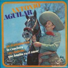 Discos de vinilo: ANTONIO AGUILAR YO EL AVENTURERO SINGLE MARIACHIS. Lote 220081473