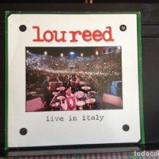 Discos de vinilo: LOU REED - LIVE IN ITALY / 2LP (BLUES ROCK, RNR) / ALBUM VINYL MADE IN GERMANY 1984. NM-NM. Lote 220082251
