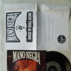 Discos de vinilo: MANO NEGRA ROCK N ROLL BAND SINGLE VINILO VIRGIN 1990 PERFECTO ESTADO. Lote 220091345