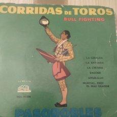 Discos de vinilo: CORRIDAS DE TOROS, PASODOBLES, VINILO 7 PULGADAS ANTIGUO. Lote 220099433