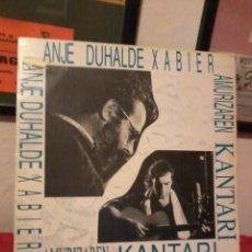 Disques de vinyle: ANJE DUHALDE XABIER AMURIZAREN KANTARI INSERT COMO NUEVO. Lote 220100835