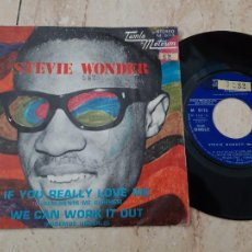 Discos de vinilo: STEVIE WONDER ?– IF YOU REALLY LOVE ME / WE CAN WORK IT OUT/-ESPAÑA-1971-PROMOCIONAL Y NUMERADO RARO. Lote 220103188