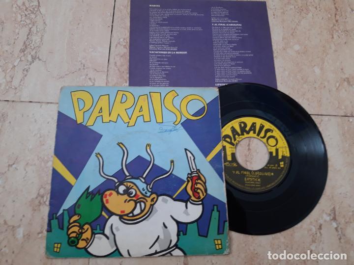 PARAISO EP NUEVOS MEDIOS 1983 MAKOKI/ EN LA MORGUE/ Y AL FINAL (CAROLINA)/ LIPSTICK (Música - Discos de Vinilo - EPs - Grupos Españoles de los 70 y 80)