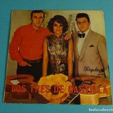 Discos de vinilo: LOS TRES DE CASTILLA. SOLO CARPETA SIN VINILO. Lote 220109310