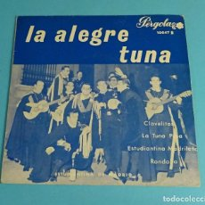 Discos de vinilo: ESTUDIANTINA DE MADRID. LA ALEGRE TUNA. PÉRGOLA. 1965. Lote 220109662