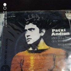 Discos de vinilo: DISCO SINGLE PATCI ANDION UNA DOS Y TRES.DESDE QUE TE QUIERO. Lote 220136733