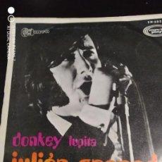 Discos de vinilo: DISCO SINGLE JULIAN GRANADOS DONKEY LUPITA. Lote 220137390