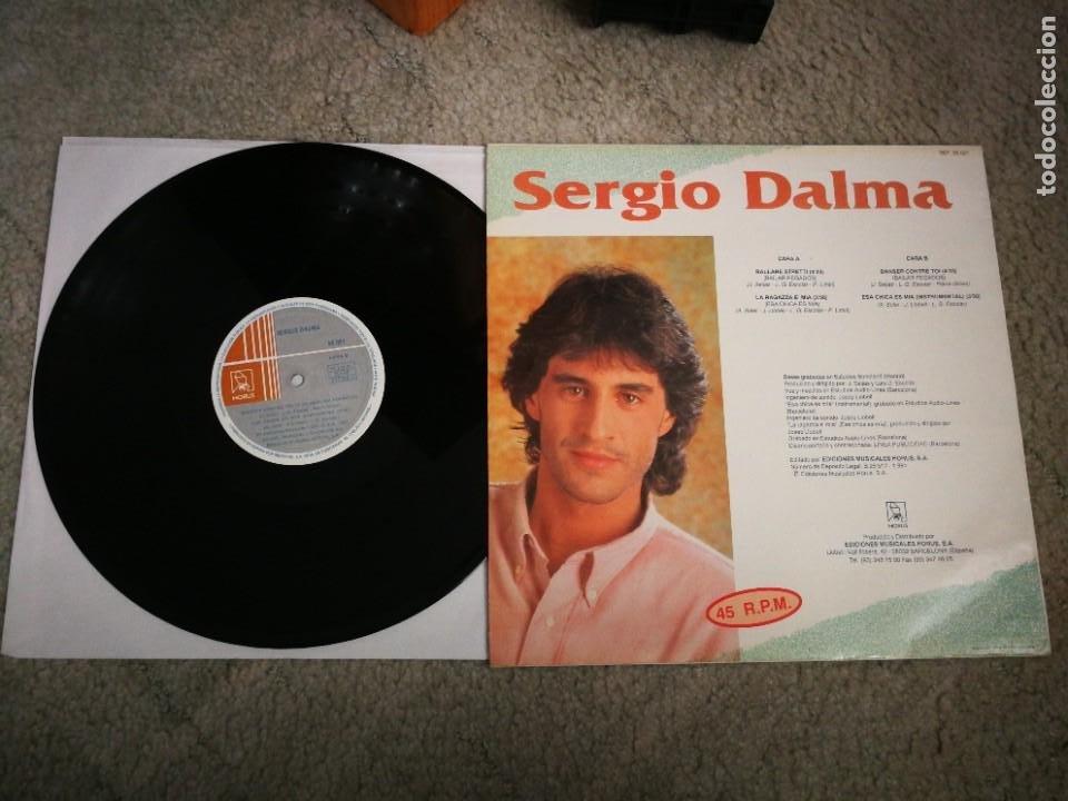 Discos de vinilo: SERGIO DALMA Ballare stretti / Danser contre toi ITALIANO FRANCES MAXI SINGLE VINILO EUROVISION 1991 - Foto 2 - 220168805