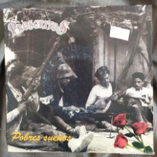 Discos de vinilo: PROSCRITOS - POBRES SUEÑOS. SINGLE GRABACIONES INTERFERENCIAS 1991. Lote 220190347