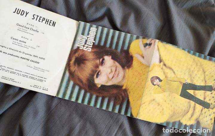 JUDY STEPHEN - GOODBYE CHARLIE. SINGLE COLUMBIA CON PORTADA DESPLEGABLE (Música - Discos - Singles Vinilo - Solistas Españoles de los 50 y 60)