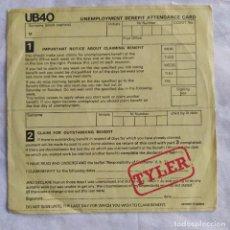 "Discos de vinilo: UB40 - TYLER (7"", SINGLE, PROMO) (1980,ES) (D:VG+). Lote 161535478"