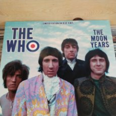 Discos de vinilo: THE WHO -THE MOON YEARS - MUSIC LEGENDS IN CONCERT - THE LEGENDARY BROADCASTS - LP COLOR AZUL -. Lote 220256830