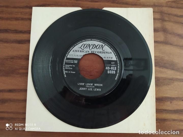 Discos de vinilo: Año 1960, muy raro, JERRY LEE LEWIS, whatd I say livin lovin wreck, single disco de vinilo 45 rpm - Foto 2 - 220259577