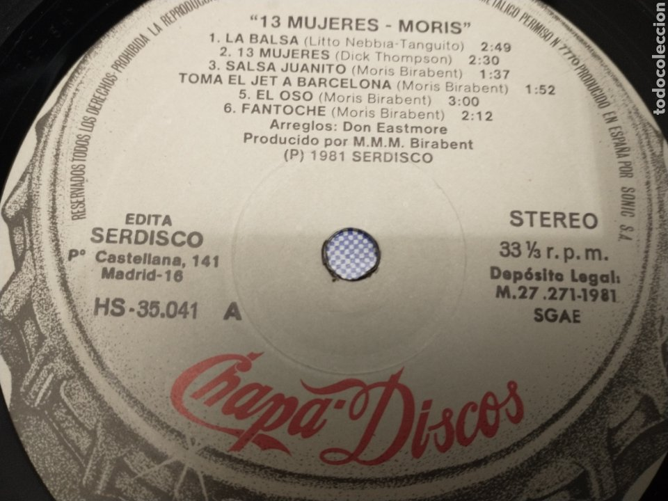 Discos de vinilo: Morís LP - Foto 3 - 220285572