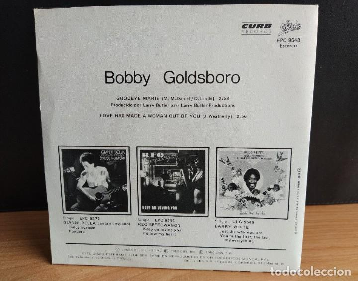 "Discos de vinilo: Bobby Goldsboro - Goodbye Marie (1980,ES) (Curb Records) (7"") (D:NM) - Foto 2 - 220294540"