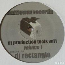 Discos de vinilo: DJ RECTANGLE - DJ PRODUCTION TOOLS VOL.1. Lote 220296501