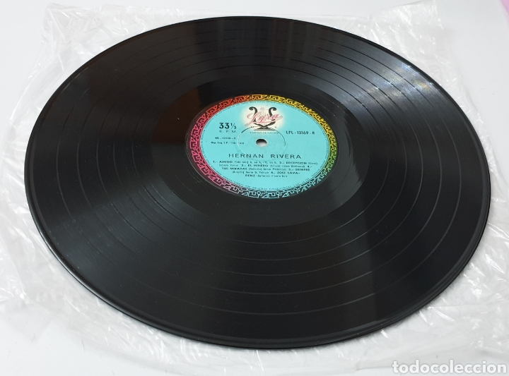 Discos de vinilo: LP - HERNAN RIVERA UNZUETA (Bolivia - Lyra - 1972) Folk Quechua Bolivia - Foto 5 - 53471694