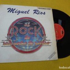 """Discos de vinilo: MAXI SINGLE 12"""" MIGUEL RIOS ?– EL ROCK DE UNA NOCHE DE VERANO - PROMO (EX-/VG+)Ç. Lote 220348768"""