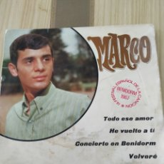 Discos de vinilo: MARCO ,BENIDORM 1967 VINILO 7 PULGADAS. Lote 220353783