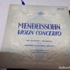 Discos de vinilo: MENDELSSOHN , VIOLIN CONCERTO - REMINGTON RECORDS. Lote 220365988
