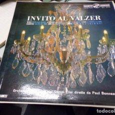 Discos de vinilo: INVITO AL VALZER - ORCHESTRA DEL TEATRO DEI CAMPI ELISI DIRETTA DA PAUL BONNEAU. Lote 220367392