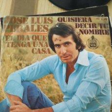 Discos de vinilo: JOSÉ LUIS PERALES, 1975, 7 PULGADAS. Lote 220367436