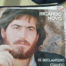 Discos de vinilo: RICARDO NOVO, 1975, 7 PULGADAS. Lote 220367787