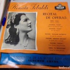 Discos de vinilo: RENATA TEBALDI - RECITAL DE OPERAS. Lote 220368291