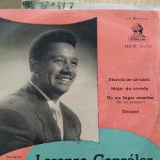 Discos de vinilo: LORENZO GONZALEZ, HISTORIAS DE UN AMOR, 7 PULGADAS. Lote 220370370