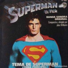Discos de vinilo: SUPERMAN EL FILM. TEMA DE SUPERMAN, JOHN WILLIAMS. SINGLE ESPAÑA. Lote 220381962