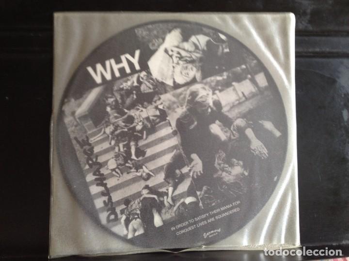 DISCHARGE - WHY (PUNK, HARDCORE) / ALBUM VINYL PICTURE DISC ITALY 2003. MINT (Música - Discos - LP Vinilo - Punk - Hard Core)