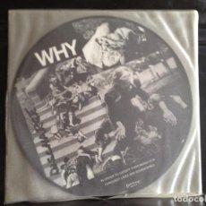 Discos de vinilo: DISCHARGE - WHY (PUNK, HARDCORE) / ALBUM VINYL PICTURE DISC ITALY 2003. MINT. Lote 220396037