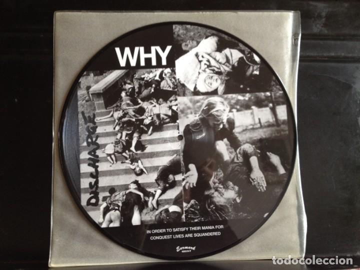 Discos de vinilo: DISCHARGE - WHY (PUNK, HARDCORE) / ALBUM VINYL PICTURE DISC ITALY 2003. MINT - Foto 3 - 220396037