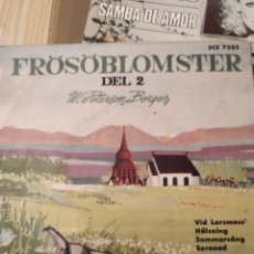 Discos de vinilo: FROSOBLOMSTER DEL 2, AÑOS 60, 7 PULGADAS. Lote 220431791