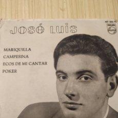 Discos de vinilo: JOSÉ LUIS, 1958, MARIQUILLA, 7 PULGADAS. Lote 220432055