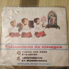 Discos de vinilo: 1968, VILLANCICOS DE SIEMPRE, 7 PULGADAS. Lote 220432623