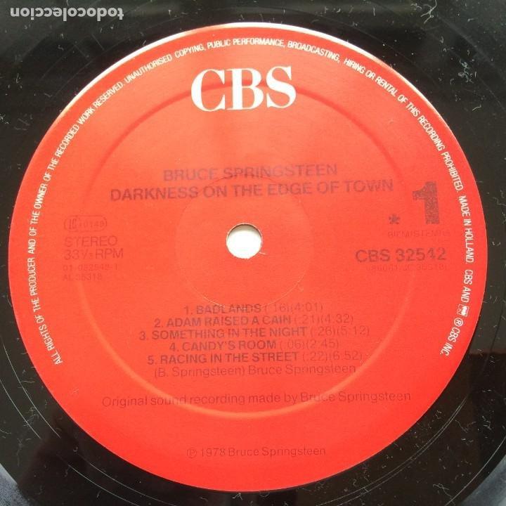 Discos de vinilo: Bruce Springsteen – Darkness On The Edge Of Town Holanda CBS - Foto 5 - 220452322