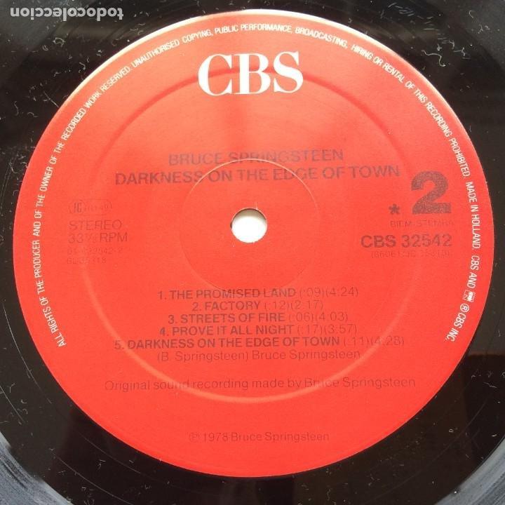 Discos de vinilo: Bruce Springsteen – Darkness On The Edge Of Town Holanda CBS - Foto 6 - 220452322