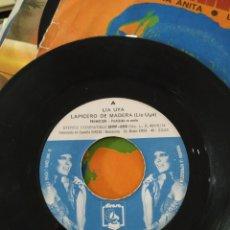 Discos de vinilo: LIA UYA, LAPICERO DE MADERA, 1974, 7 PULGADAS. Lote 220468760