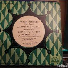 Discos de vinilo: FRANK SINATRA: TIEMPO BORRASCOSO, CANCION DE SEPTIEMBRE + 2 REGAL ED ESPAÑA RARO. Lote 220477727
