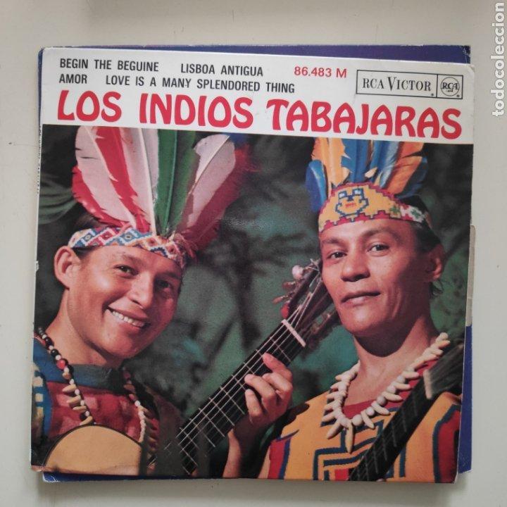 NT LOS INDIOS TABAJARAS - AMOR LISBOA ANTIGUA 1965 EDICION FRANCESA (Música - Discos de Vinilo - EPs - Country y Folk)
