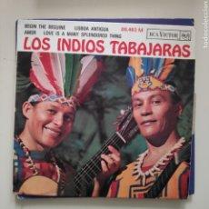 Discos de vinilo: NT LOS INDIOS TABAJARAS - AMOR LISBOA ANTIGUA 1965 EDICION FRANCESA. Lote 220483811