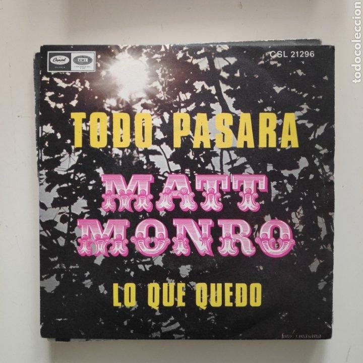NT MATT MONRO - TODO PASARA 1969 SPAIN SINGLE VINILO (Música - Discos - Singles Vinilo - Cantautores Extranjeros)