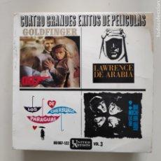 Discos de vinilo: NT GRANDES EXITOS DE PELICULAS VOL. 3 GOLDFINGER LAWRENCE DE ARABIA QUE NOCHE LA DE AQUEL DIA. Lote 220486913
