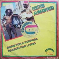 Discos de vinilo: DR. ALIMANTADO - BORN FOR A PURPOSE / STILL ALIVE MAXI-SINGLE 1978 FRANCIA - REGGAE. Lote 220489088
