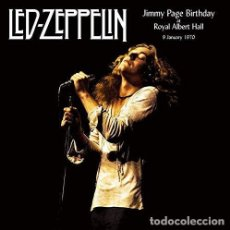 Discos de vinilo: LED ZEPPELIN – JIMMY PAGE BIRTHDAY AT THE ROYAL ALBERT HALL 9 JANUARY 1970 -2 LP-. Lote 220490492