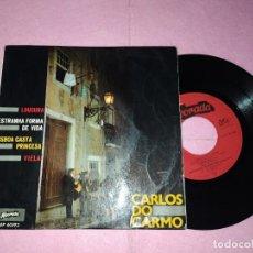 """Discos de vinilo: 7"""" CARLOS DO CARMO – LOUCURA +3 - ALVORADA AEP 60593 - PORTUGAL PRESS EP (VG+/VG+). Lote 220553450"""