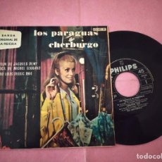 """Discos de vinilo: 7"""" MICHEL LEGRAND – BSO LOS PARAGUAS DE CHERBURGO - EN EL MUELLE +3 - SPAIN PRESS EP (VG++/VG++). Lote 220561915"""